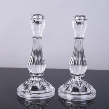 Clear Glass Elegant Candlestick Holder