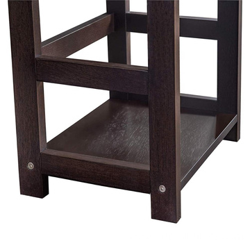 2L Lifestyle B12900001-P Hyder Storage Rack Wood Shelf, Small, Brown