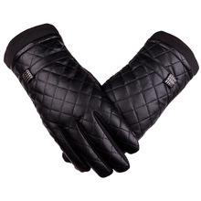 ladies emboridery leather glove with polyster linings