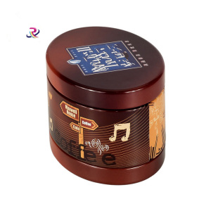 Round Custom Printing Coffee Tin Box