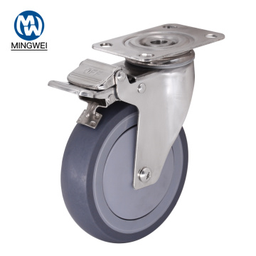 Stainless Steel 5 Inch Caster With Brake