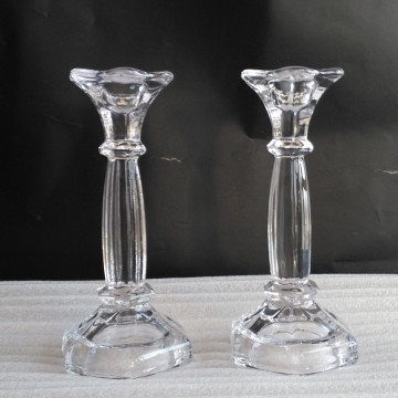 Clear Tall Decorative Candle Stick Holder