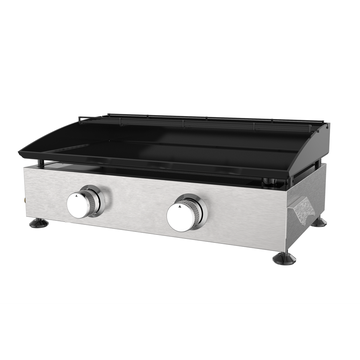 Two Burner Cold-Rolled Steel Gas Griddle