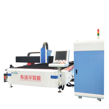 fiber laser cutting machine works