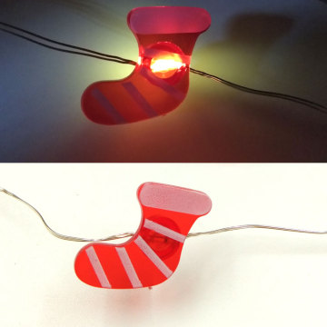 holiday lights led fairy light with sock
