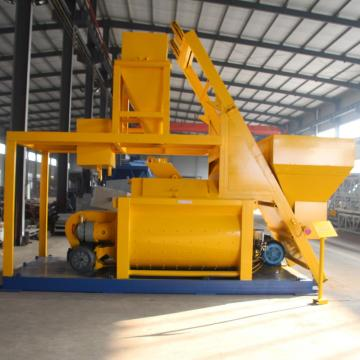 Large volumetric twin shaft stationary JS concrete mixer