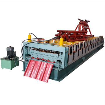 Automatic making trapezoidal forming machine
