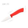ABS Red Handle 3 Inches Fruit Knife