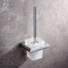 Europe style for Thermostatic Mixing Valve Bathroom Accessories Full Copper Toilet Brush Holder export to Russian Federation Exporter