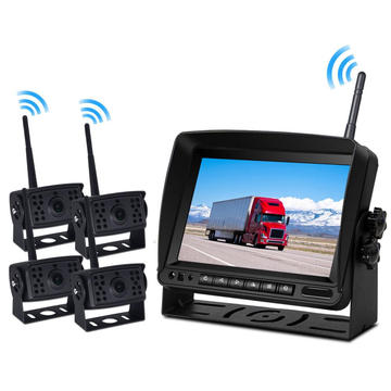 Vehicle Mounted Displays IR Night Vision Rear View Backup Camera System with Multiple Viewing  7'' Wireless Car Monitor