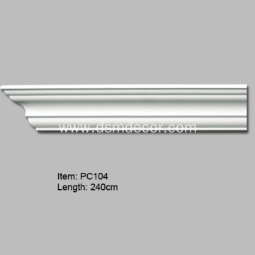 Polyurethane Plain Decorative Cornice Moulding