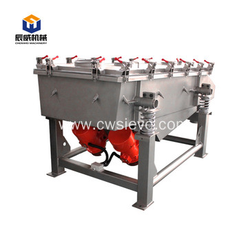 soybean linear vibrating screening machine
