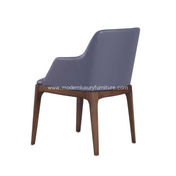 Modern Grace Genuine Leather Dining Chair