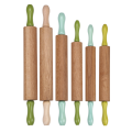 Adjustable Wood Rolling Pin with painting handle