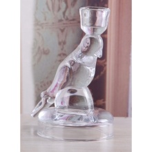 Glass Bird Shaped Tealight Holder
