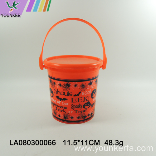The Halloween bucket is designed for children