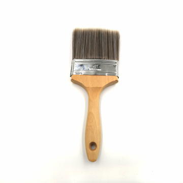 mini wooden handle bristle paintbrush and long hair paint brush