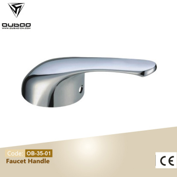 Chrome faucet hot and cold water handle