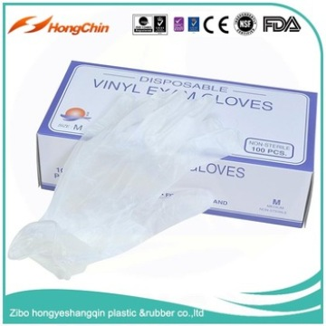 Medical purpose powder disposable vinyl exam gloves