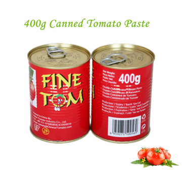Canned Tomato Paste with size of 400g