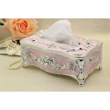 Romantic Retro Wooden Carving Tissue Box