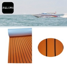 Melors Black and Orange Adhesive Flooring Boat Mat