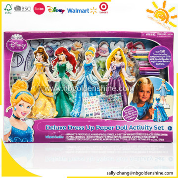 Princess Deluxe Dress Up Paper Doll Activity Set