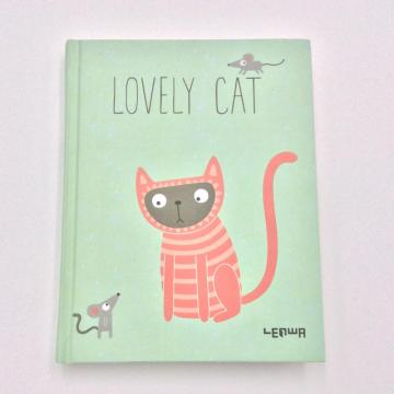 Paper lovely cat student notebook