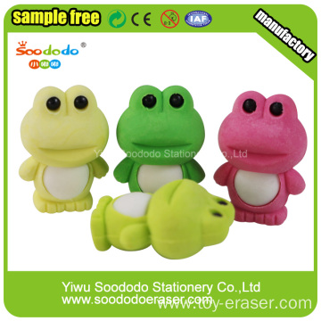 Green Frog Shaped Eraser