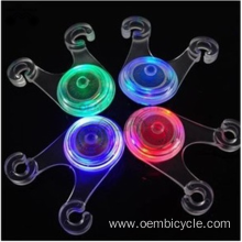 Mini bright rear led light colorful silicone bike light for sale
