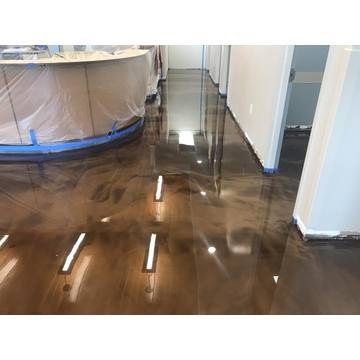 Hospital metallic epoxy resin flooring