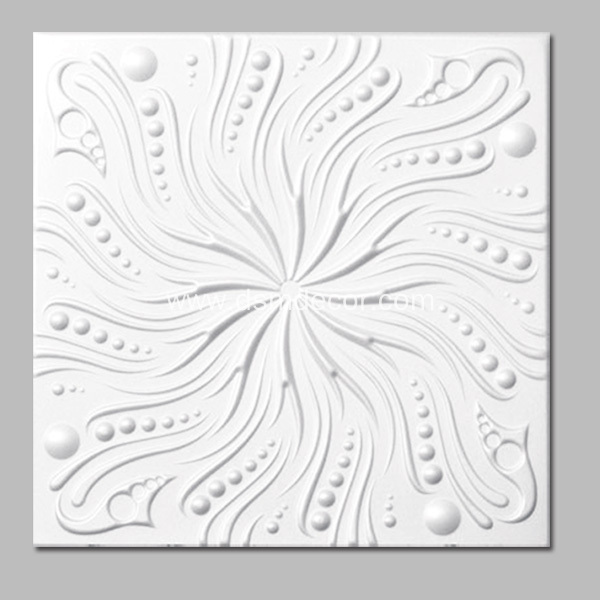 Flat Polyurethane Architectural Ceiling Tiles