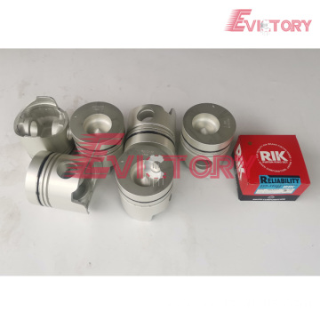 KOMATSU engine parts piston 6D108 piston ring