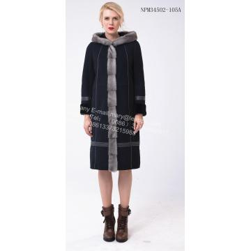 Supply for Eco Fur Coat Long Women Australia Merino Shearling Coat export to United States Manufacturer