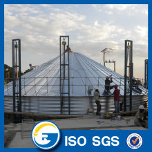 Hot dip galvanized flat bottom silo