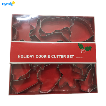 Metal Large Christmas Cookie Cutters Set