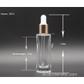 Wholesale 30ml glass square dropper bottles/ essence oil  bottles with good price