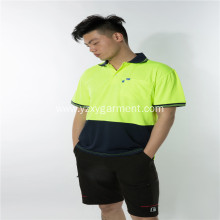 Fluorescent yellow color matching worwear