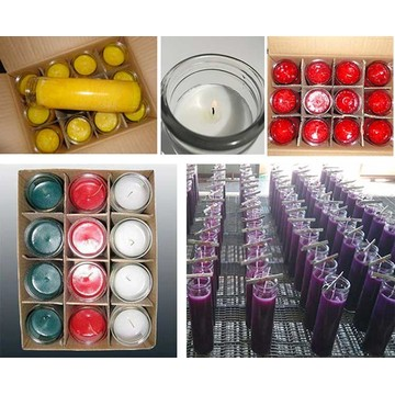 7 Days Color Candles Religious Glass Candle