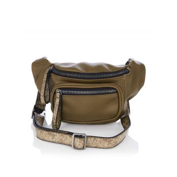 Army green snake decorative fshion waist bag