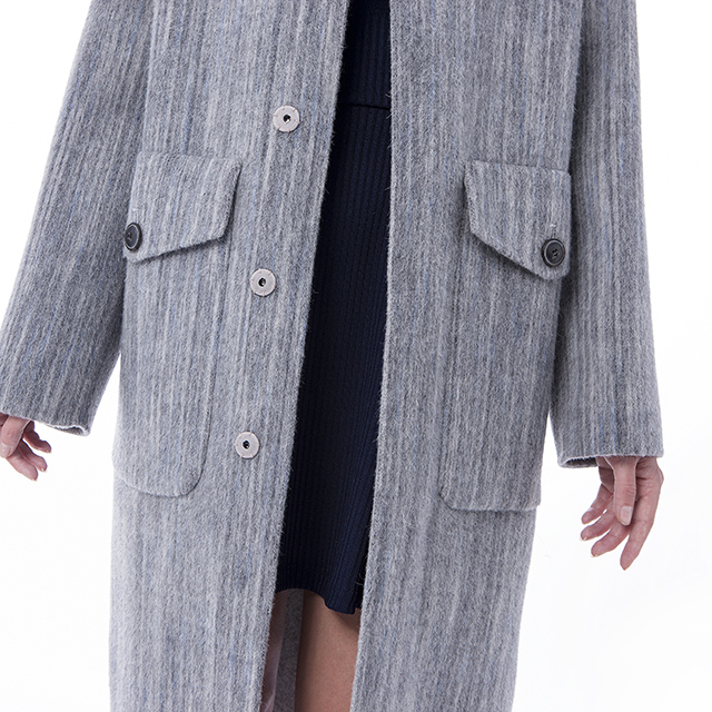 Fashion cashmere wool coat front