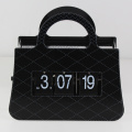 Black Handbag Flip Table Clock