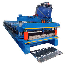 Aluminum step tile roof sheet forming machine