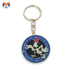 Good Quality for Personalized Keychain Wholesale metal custom logo coin keychain bezel supply to Micronesia Suppliers