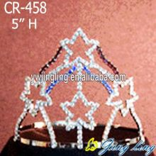 5 Inch wholesale rhinestone star Patriotic crowns cheap