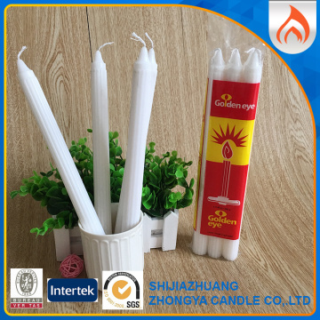 South Africa Big White Household Fluted Candles