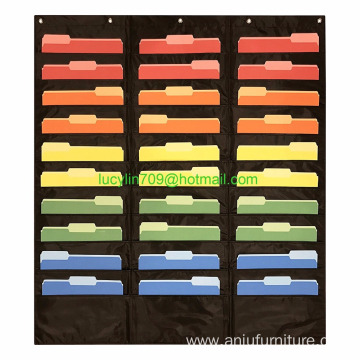 30 Pocket Storage Pocket Chart, Hanging Wall File Organizer 30 Pocket Storage Pocket Chart, Hanging Wall File Organizer