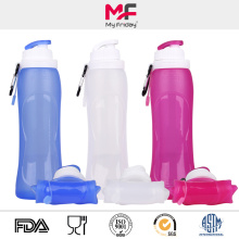 Sporting foldable silicone water drinking bottle