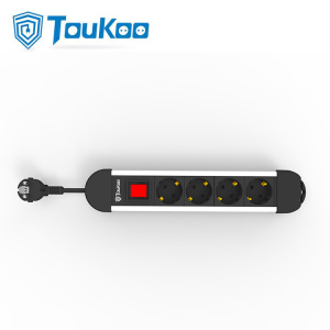 Factory best selling for 4 Way Electric Outlet 4 way Germany electrical power strip grounded export to Germany Factories