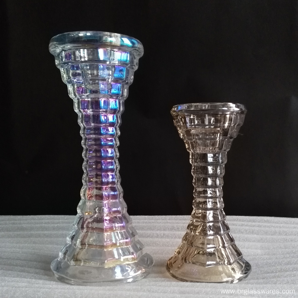 Unique Glass Candle Holder for Taper and Pillar candle